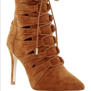 JOIE Jelka lace up booties - whiskey suede